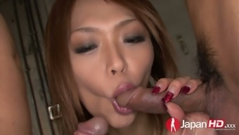 Passionate buxom nympho Rian spreads legs simultaneously vast to become fucked christian missionary design