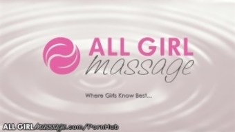 AllGirlMassage Abella Risk Licks,Touches & Fists the girl to Delight