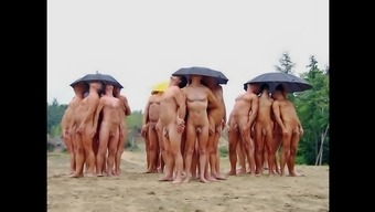 Nudists having fun Summer months