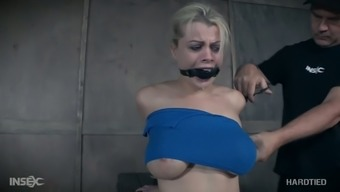Large breasted bitch Nadia White colored gets busy during wild BDSM exercise routine