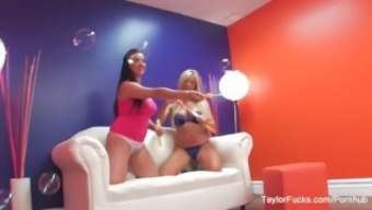 Behind your sequences by using pornstars Taylor and Tasha