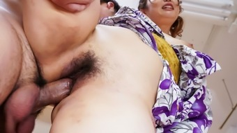 Amazing threesome Japanese people sexual intercourse fiddle with Ojai Suzuki - More at Javhd.com