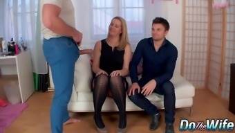 Powerless Husband Timepiece His Blonde Wife Nikky Wish Get Fucked using a Stud poker