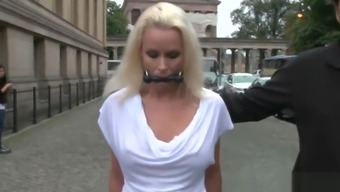 Busty German Milf banged in public places